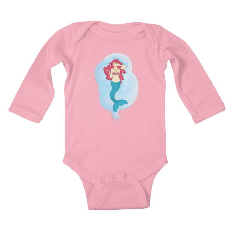 Mermaid Kids Baby Longsleeve Bodysuit by tabyway's Artist Shop