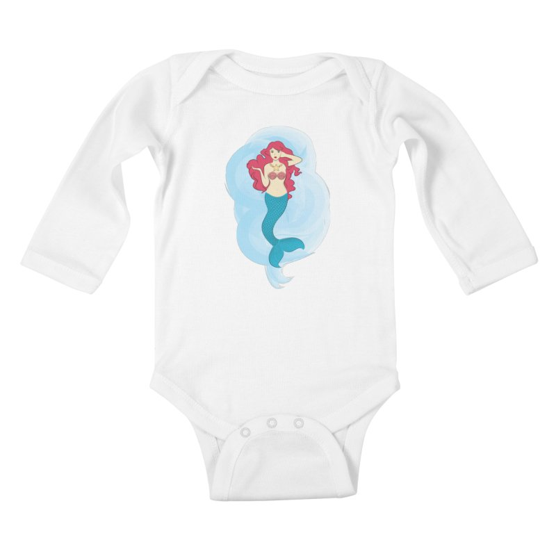 Mermaid Kids Baby Longsleeve Bodysuit by tabyway's Artist Shop