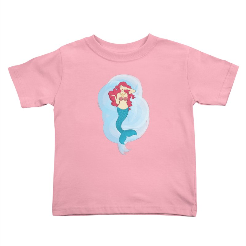 Mermaid Kids Toddler T-Shirt by tabyway's Artist Shop
