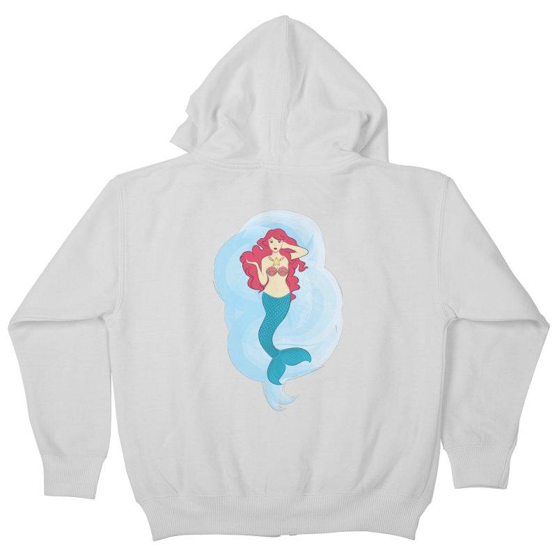 Mermaid Kids Zip-Up Hoody by tabyway's Artist Shop