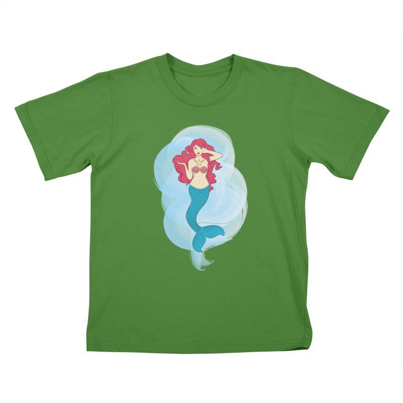 Mermaid Kids T-Shirt by tabyway's Artist Shop