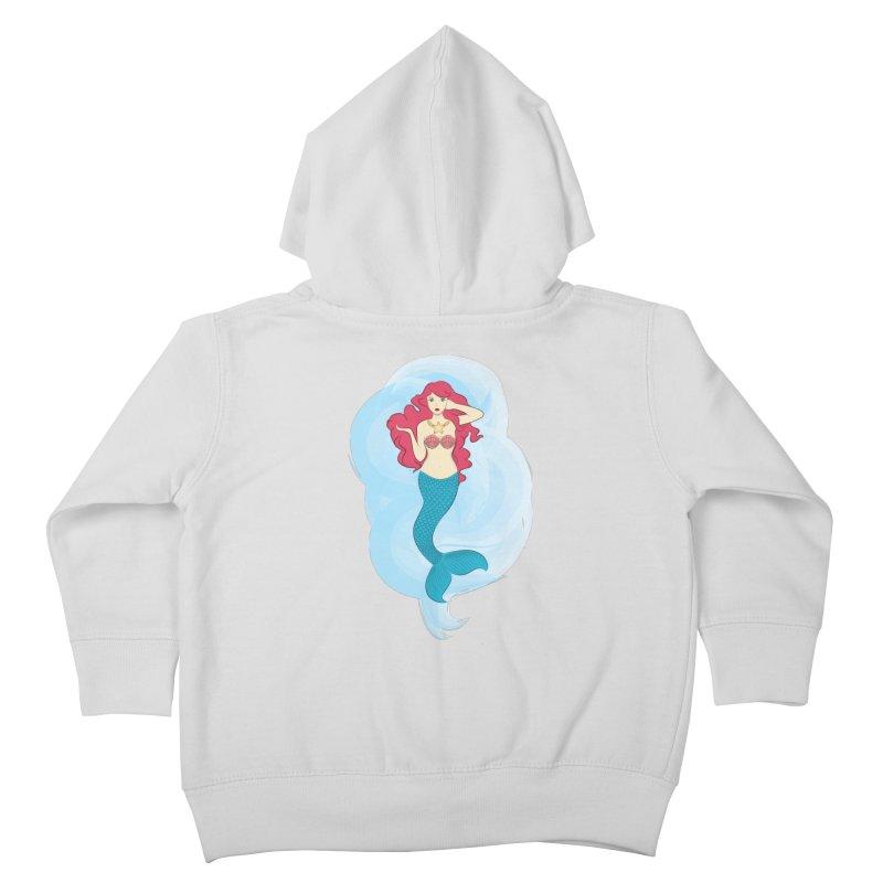 Mermaid Kids Toddler Zip-Up Hoody by tabyway's Artist Shop