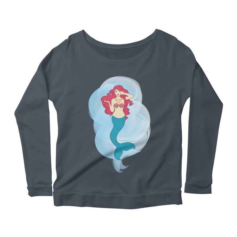 Mermaid Women's Longsleeve Scoopneck  by tabyway's Artist Shop