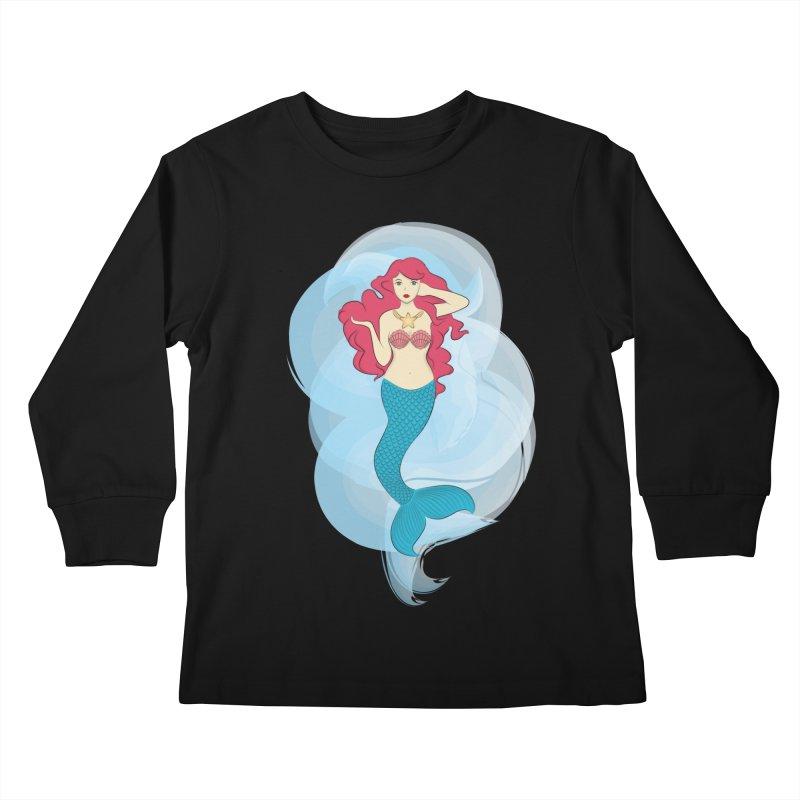 Mermaid Kids Longsleeve T-Shirt by tabyway's Artist Shop