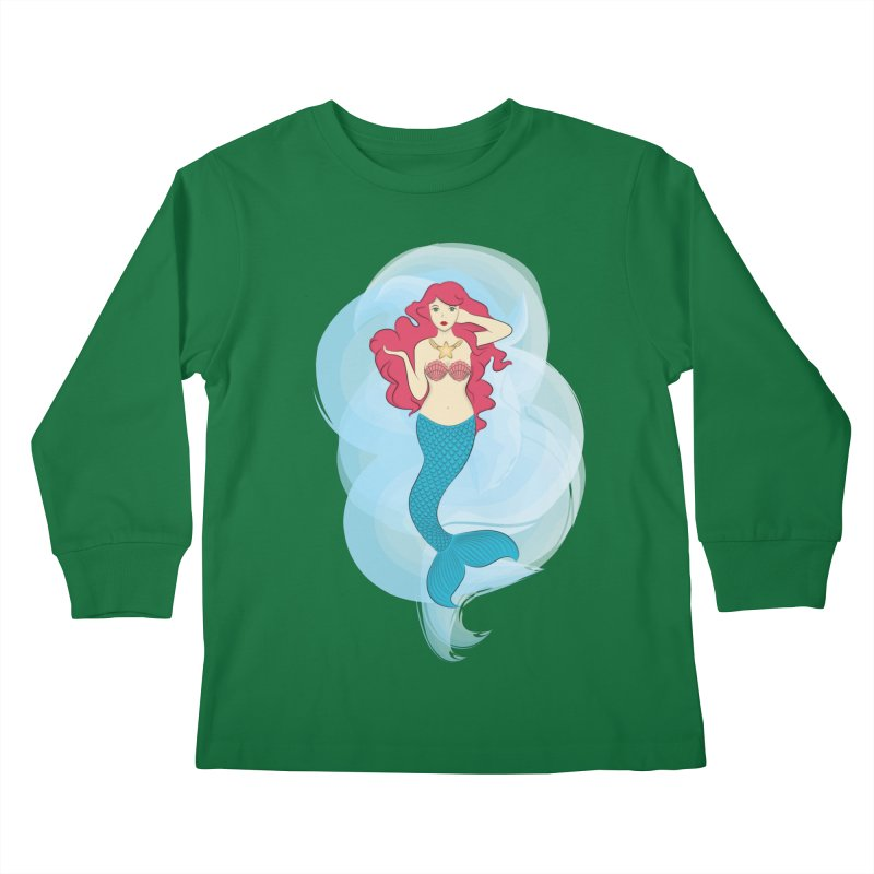 Mermaid Kids Longsleeve T-Shirt by tabyway's Artist Shop