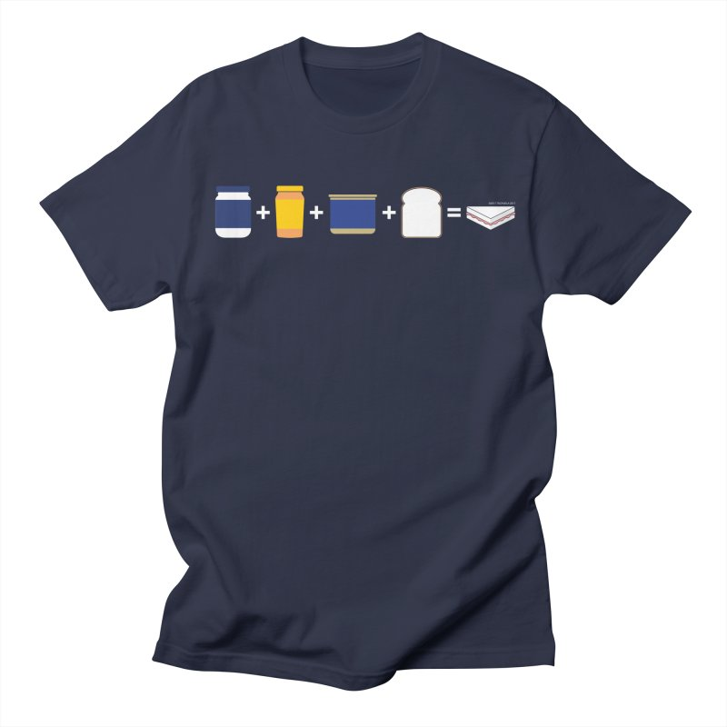 Sandwichitos in Men's T-Shirt Navy by Tachuela's Shop