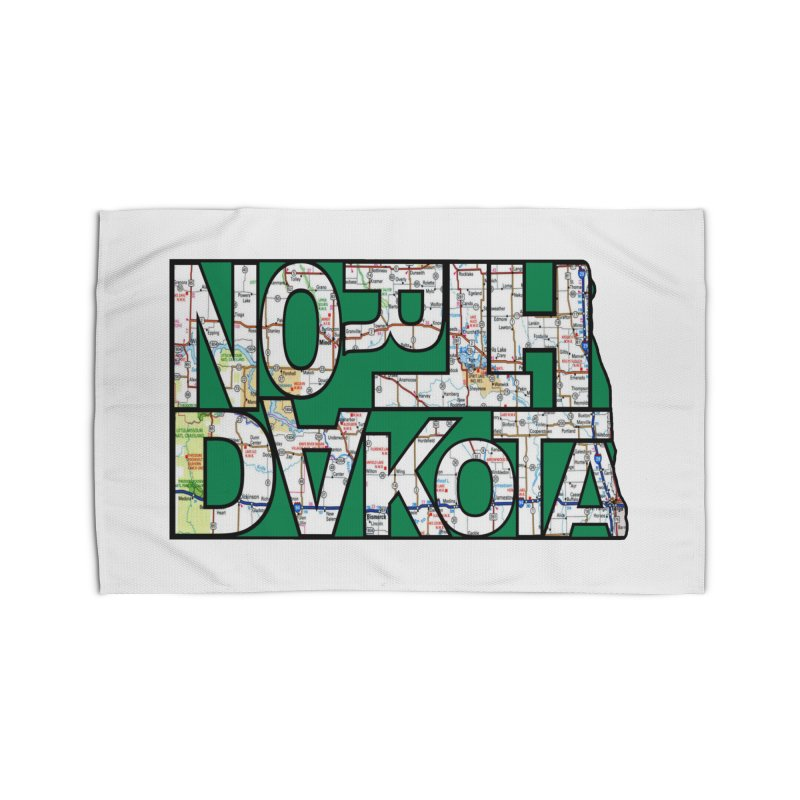 North Dakota State Map Typography Graphic Home Rug by taeamade's Artist Shop