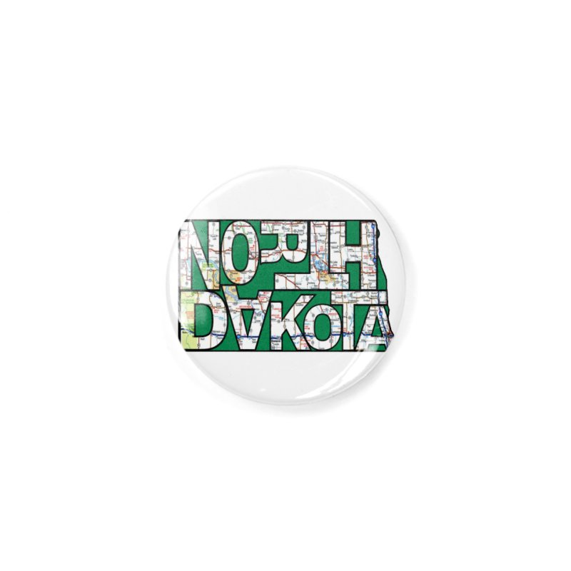 North Dakota State Map Typography Graphic Accessories Button by taeamade's Artist Shop