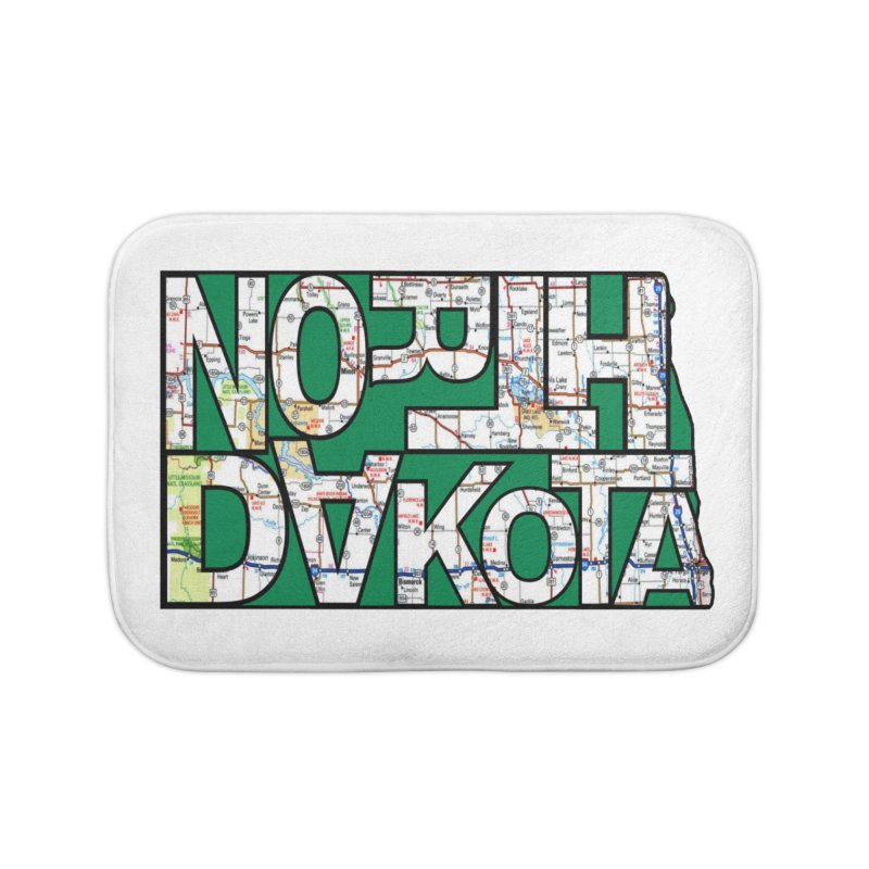 North Dakota State Map Typography Graphic Home Bath Mat by taeamade's Artist Shop