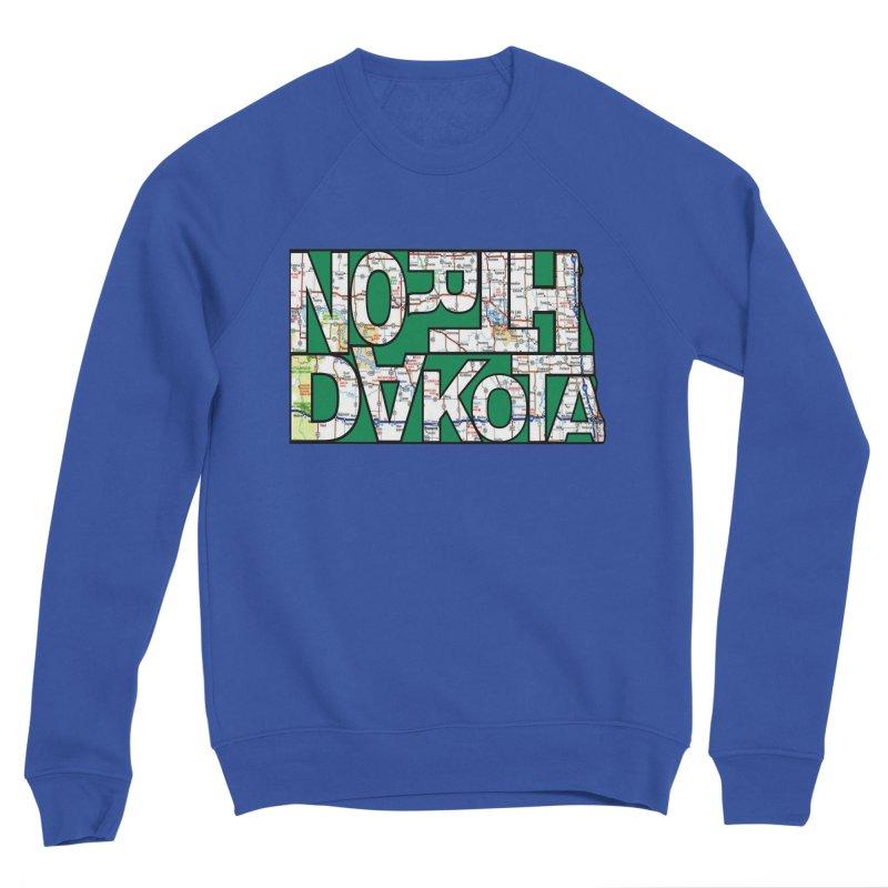North Dakota State Map Typography Graphic Women's Sweatshirt by taeamade's Artist Shop