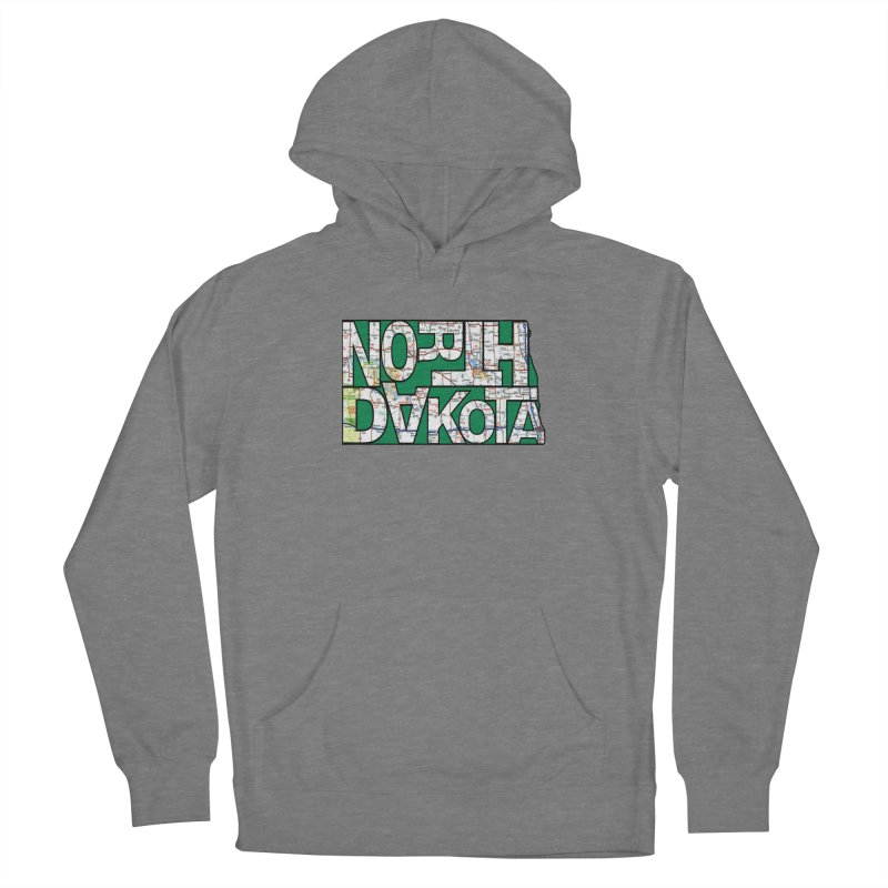 North Dakota State Map Typography Graphic Women's Pullover Hoody by taeamade's Artist Shop