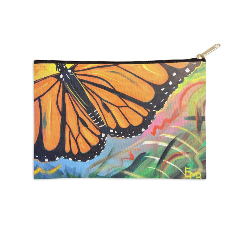 Monarch Migration Accessories Zip Pouch by taeamade's Artist Shop