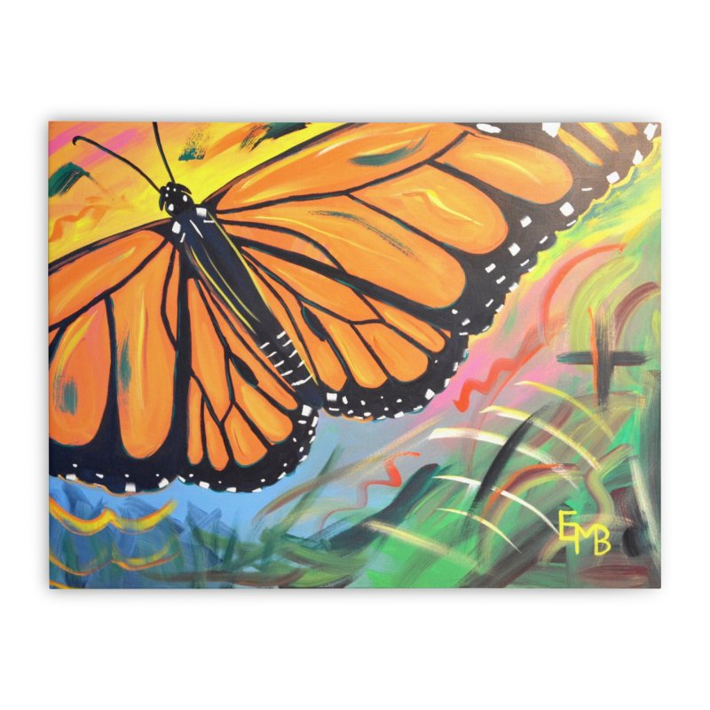 Monarch Migration Home Stretched Canvas by taeamade's Artist Shop