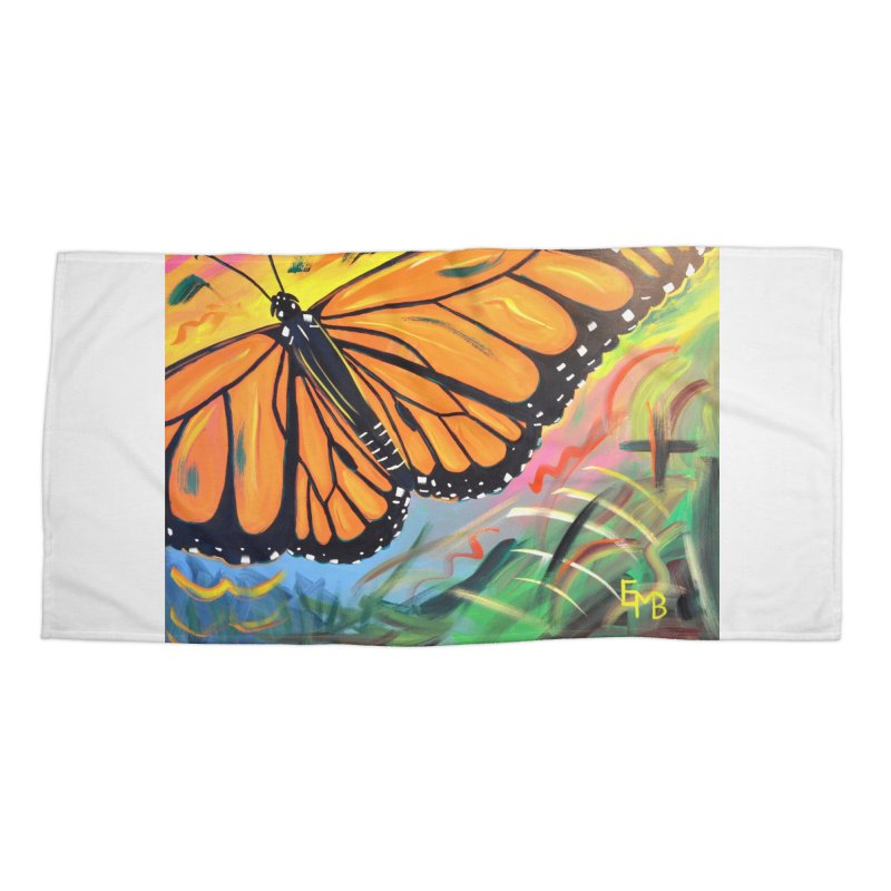 Monarch Migration Accessories Beach Towel by taeamade's Artist Shop