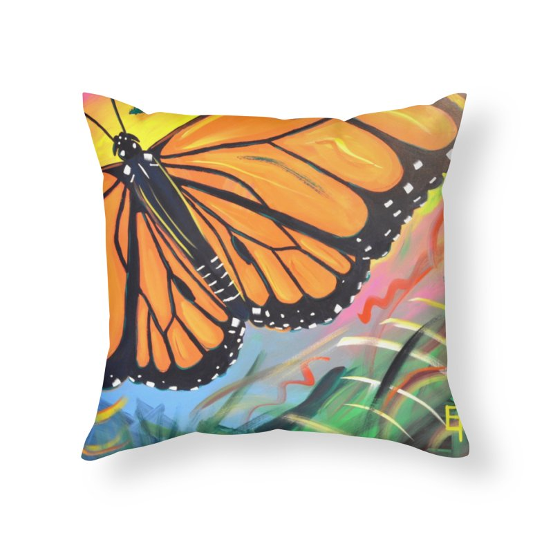 Monarch Migration Home Throw Pillow by taeamade's Artist Shop