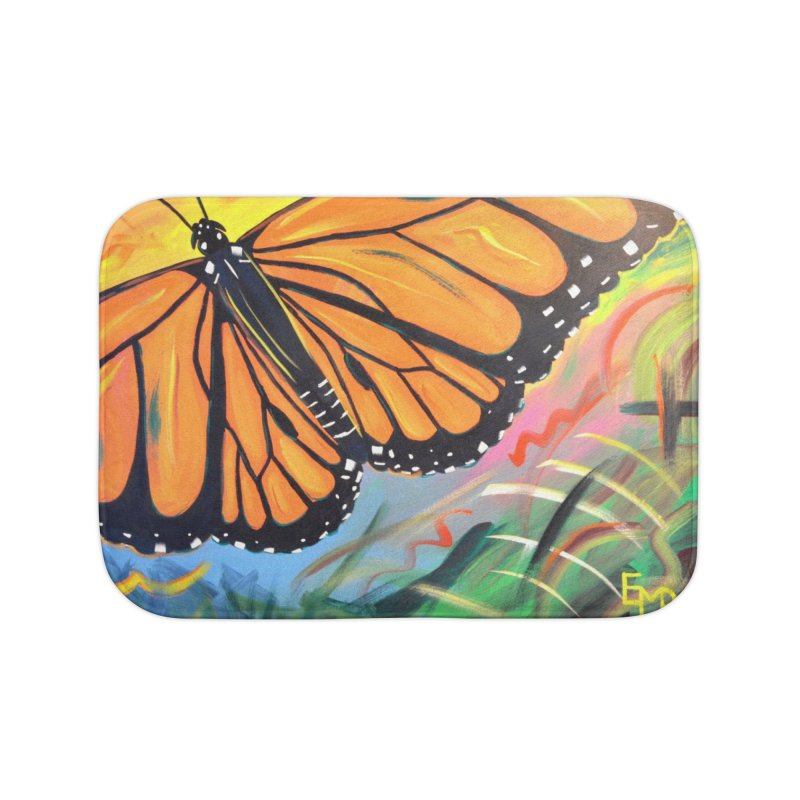 Monarch Migration Home Bath Mat by taeamade's Artist Shop