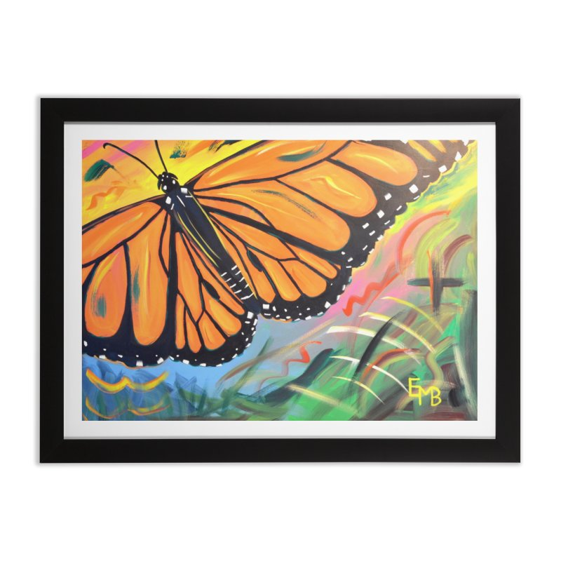 Monarch Migration Home Framed Fine Art Print by taeamade's Artist Shop