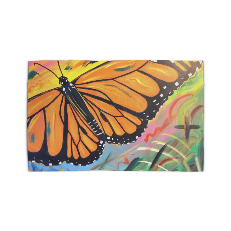 Monarch Migration Home Rug by taeamade's Artist Shop