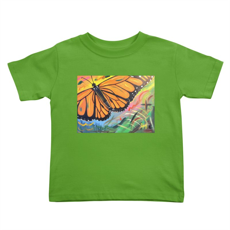 Monarch Migration Kids Toddler T-Shirt by taeamade's Artist Shop