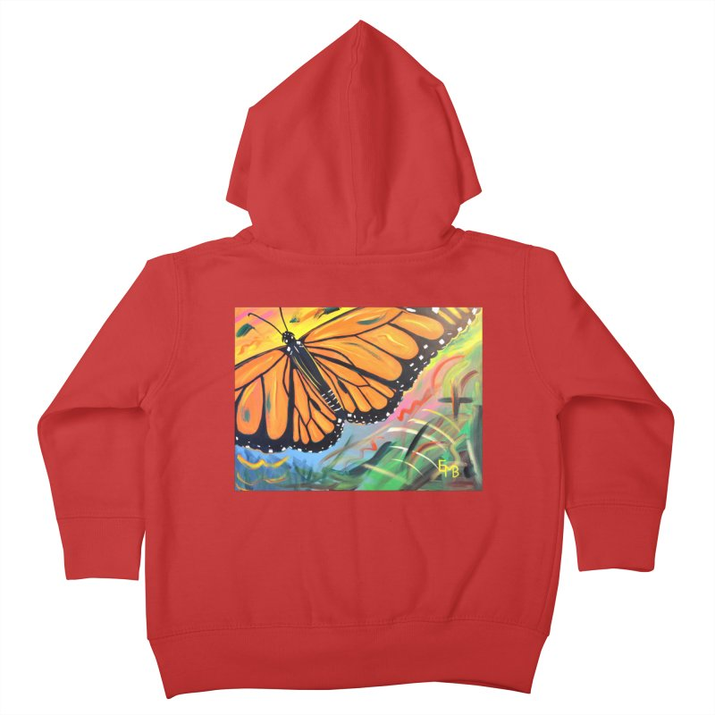 Monarch Migration Kids Toddler Zip-Up Hoody by taeamade's Artist Shop