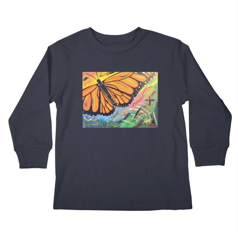 Monarch Migration Kids Longsleeve T-Shirt by taeamade's Artist Shop