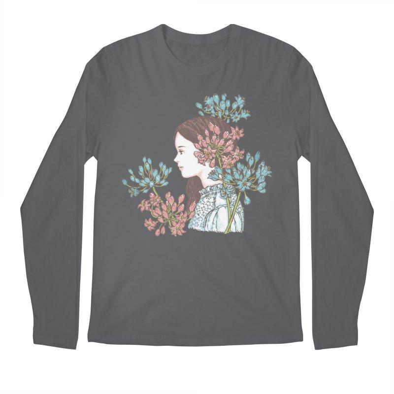 Agapanthus 소녀 Men's Longsleeve T-Shirt by taeyun's Artist Shop