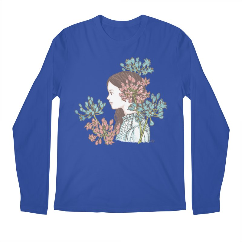 Agapanthus 소녀 Men's Longsleeve T-Shirt by taeyun's Artist Shop