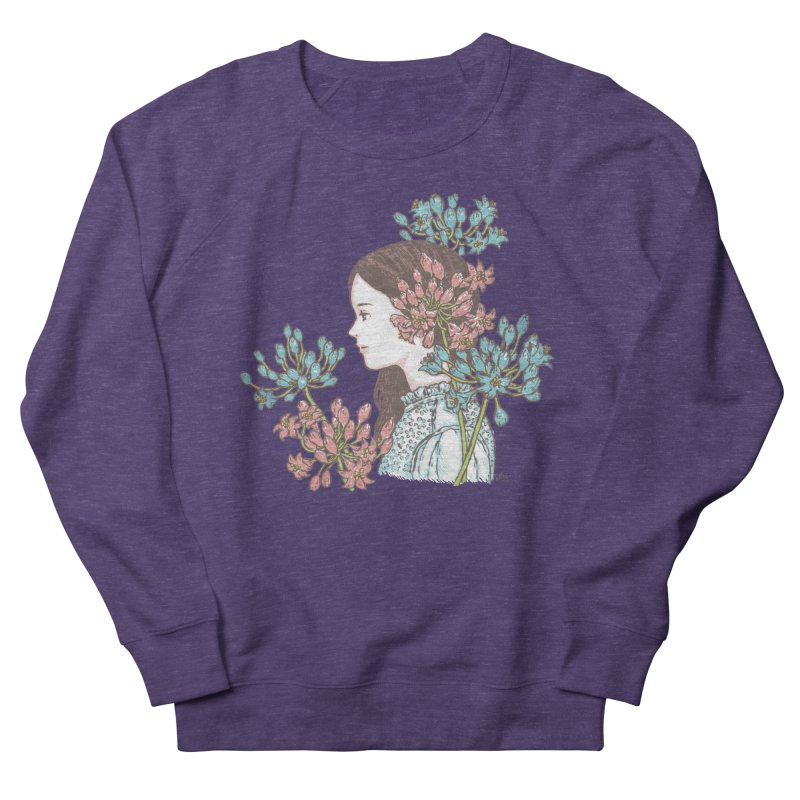 Agapanthus 소녀 Women's Sweatshirt by taeyun's Artist Shop