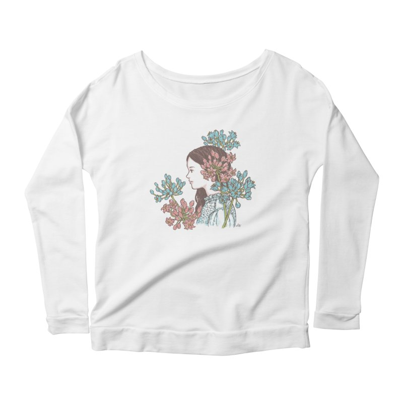 Agapanthus 소녀 Women's Longsleeve Scoopneck  by taeyun's Artist Shop