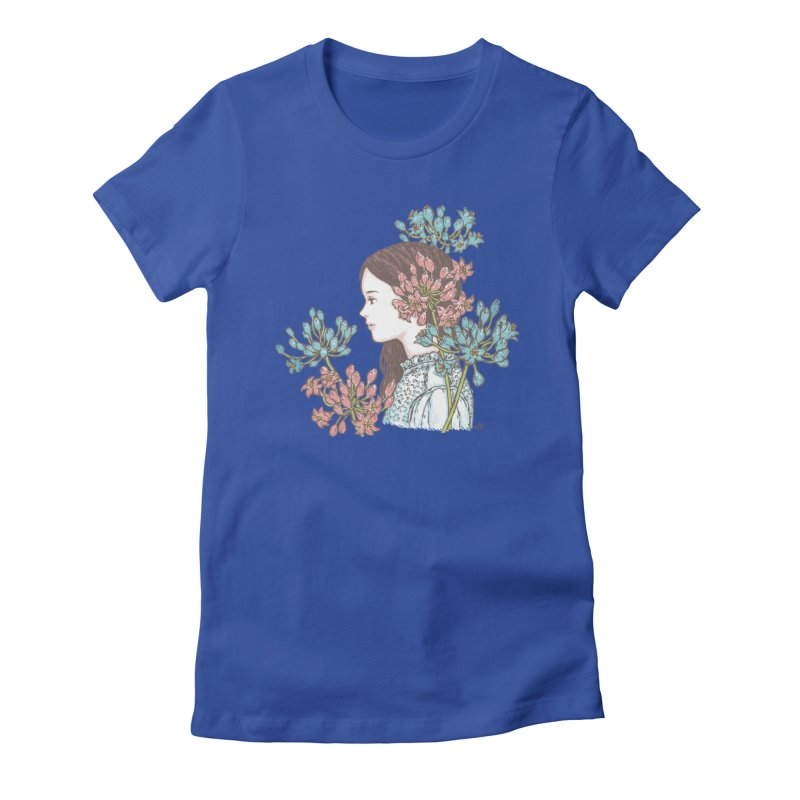 Agapanthus 소녀 Women's Fitted T-Shirt by taeyun's Artist Shop