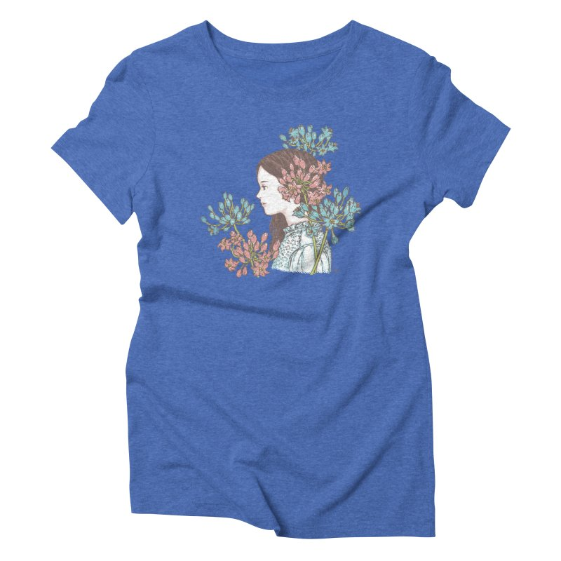 Agapanthus 소녀 Women's Triblend T-Shirt by taeyun's Artist Shop
