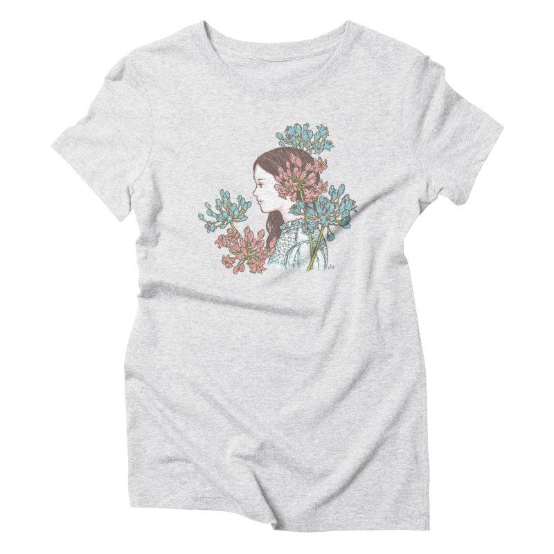 Agapanthus 소녀 Women's Triblend T-Shirt by taeyun's Artist Shop