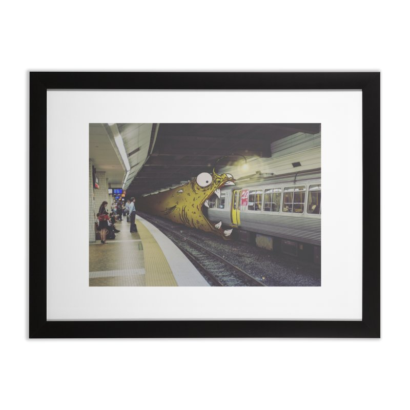 Trainglerfish Home Framed Fine Art Print by Tail Jar's Artist Shop