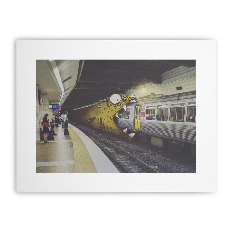 Trainglerfish Home Stretched Canvas by Tail Jar's Artist Shop