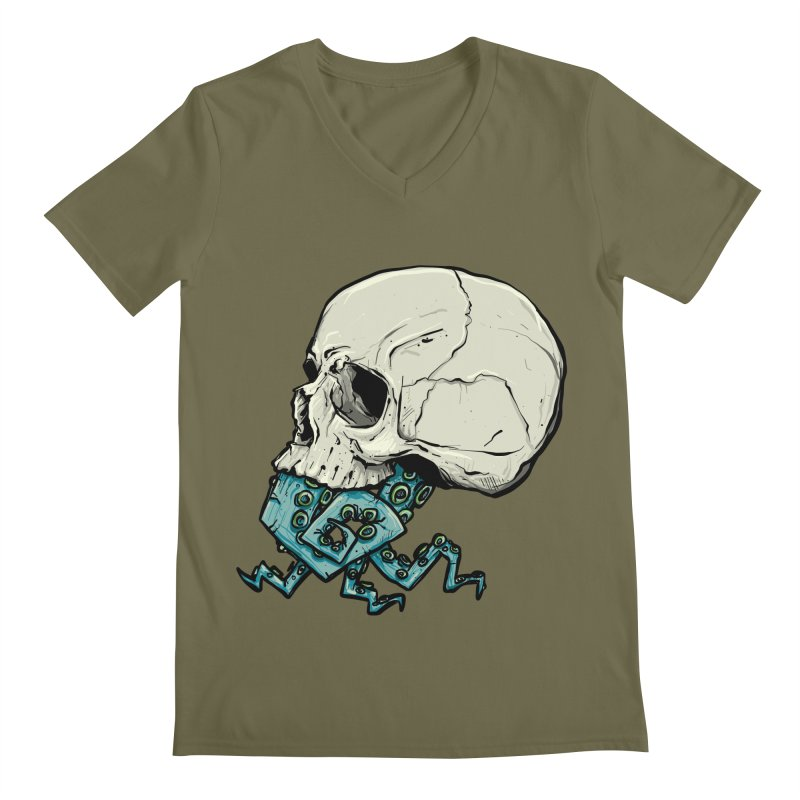 Tentacles Men's Regular V-Neck by Tail Jar's Artist Shop