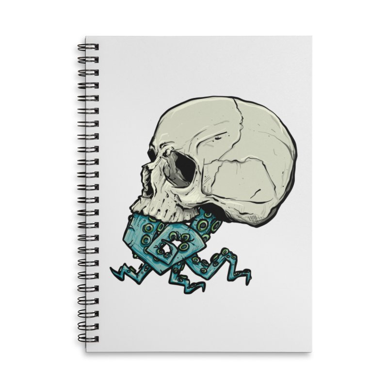 Tentacles Accessories Lined Spiral Notebook by Tail Jar's Artist Shop