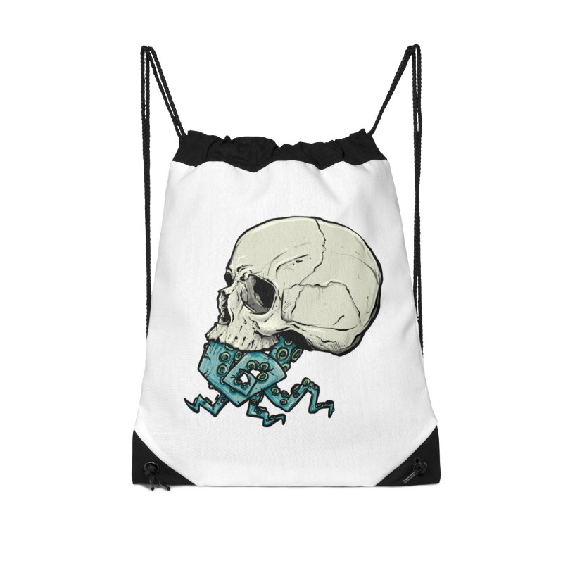 Tentacles Accessories Drawstring Bag Bag by Tail Jar's Artist Shop