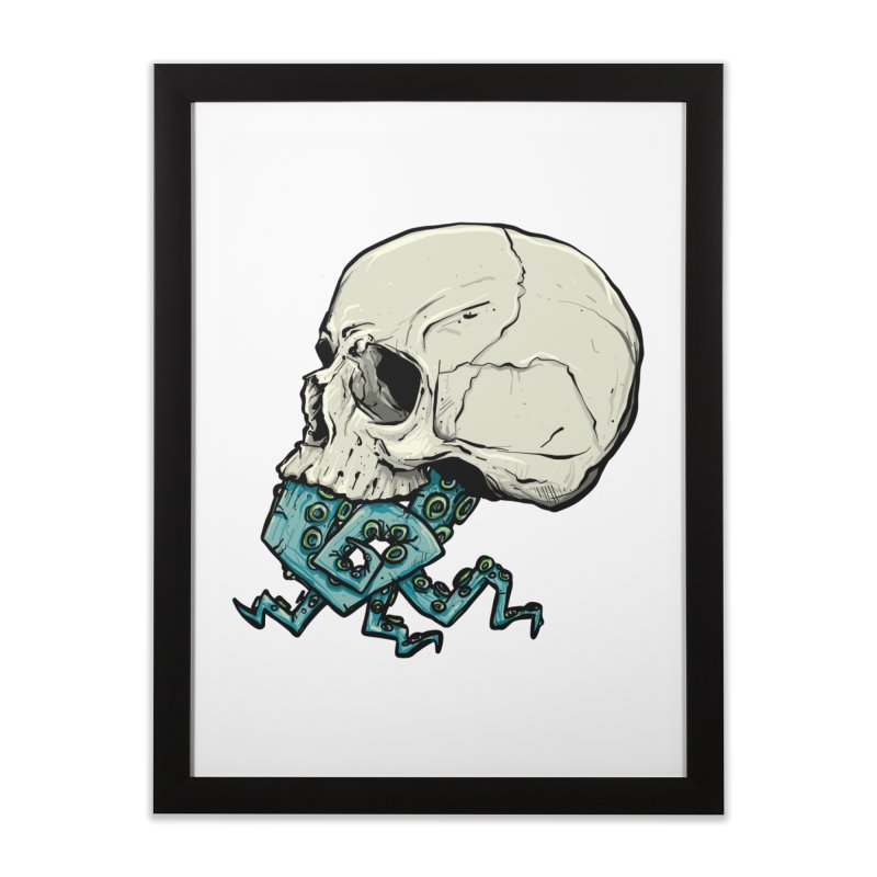 Tentacles in Framed Fine Art Print Black by Tail Jar's Artist Shop