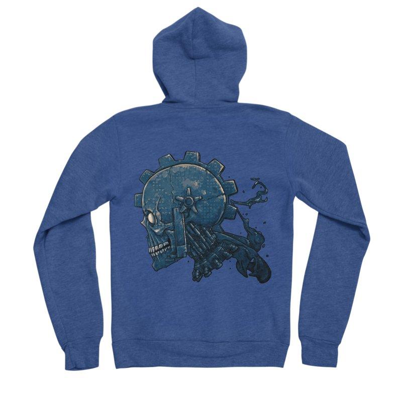 Mech Head Men's Sponge Fleece Zip-Up Hoody by Tail Jar's Artist Shop