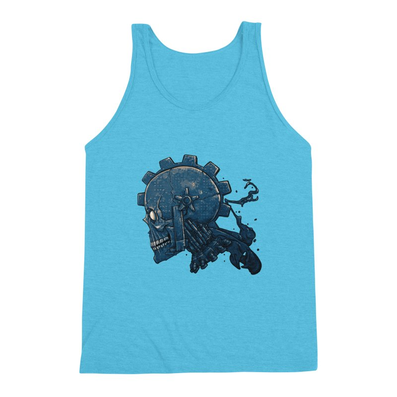 Mech Head Men's Triblend Tank by Tail Jar's Artist Shop