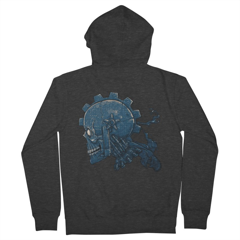 Mech Head Men's French Terry Zip-Up Hoody by Tail Jar's Artist Shop