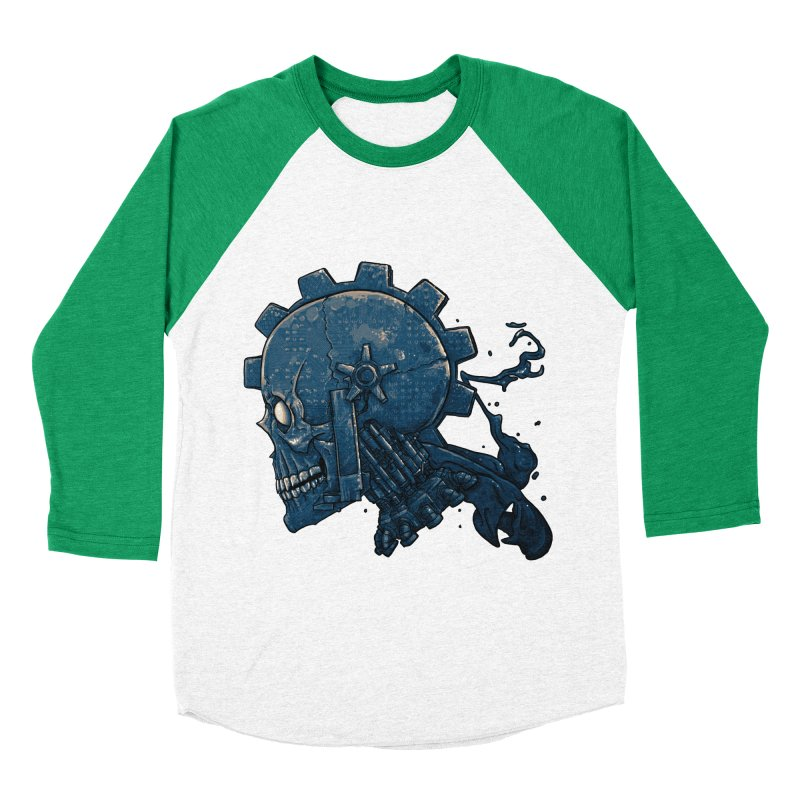 Mech Head Men's Baseball Triblend Longsleeve T-Shirt by Tail Jar's Artist Shop
