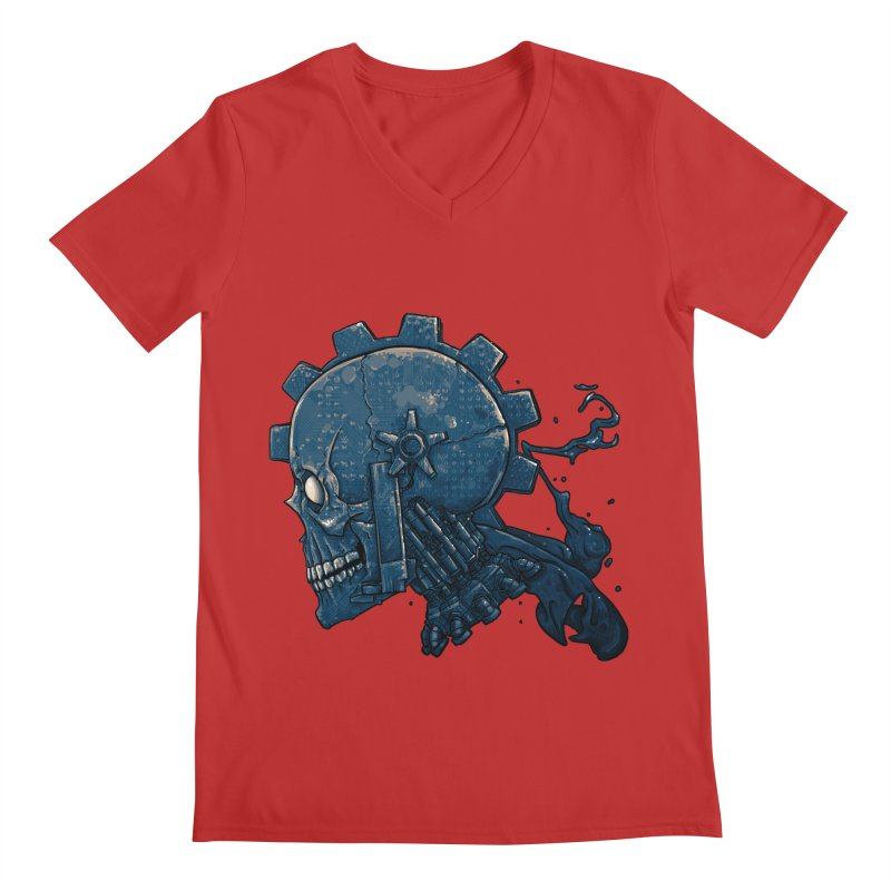 Mech Head Men's Regular V-Neck by Tail Jar's Artist Shop