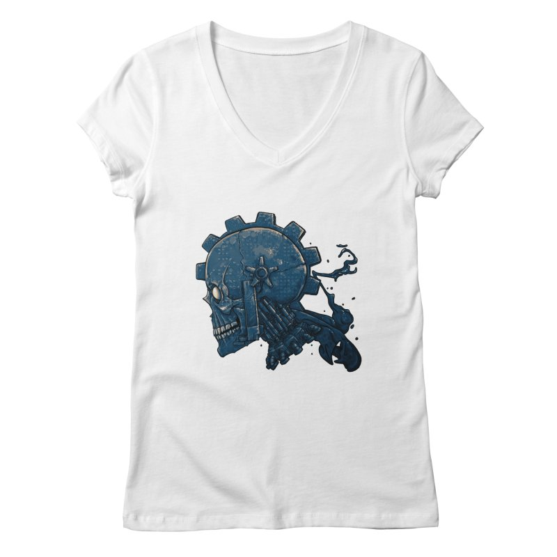 Mech Head Women's Regular V-Neck by Tail Jar's Artist Shop