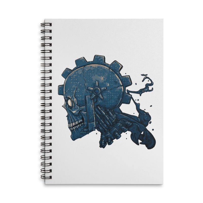 Mech Head Accessories Lined Spiral Notebook by Tail Jar's Artist Shop