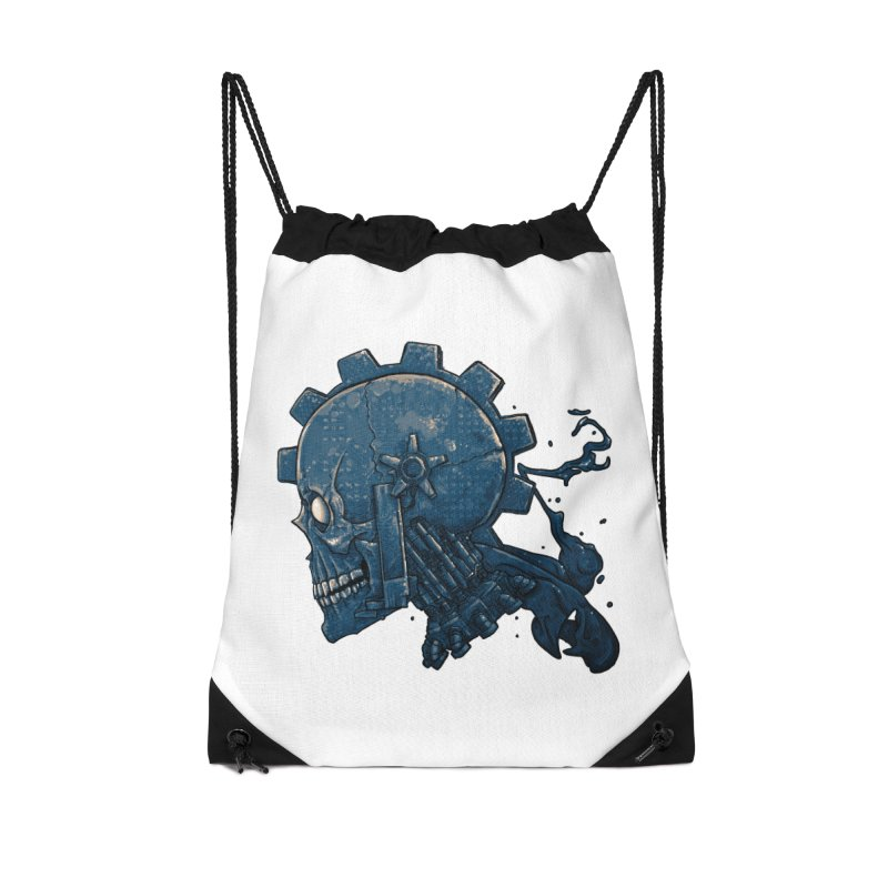 Mech Head Accessories Drawstring Bag Bag by Tail Jar's Artist Shop