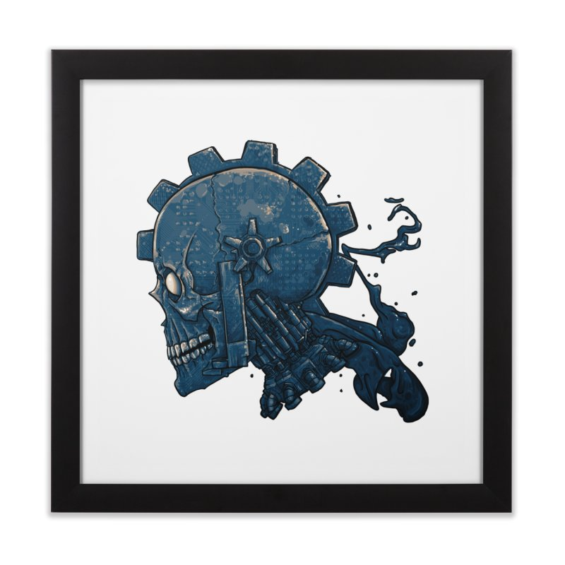 Mech Head Home Framed Fine Art Print by Tail Jar's Artist Shop