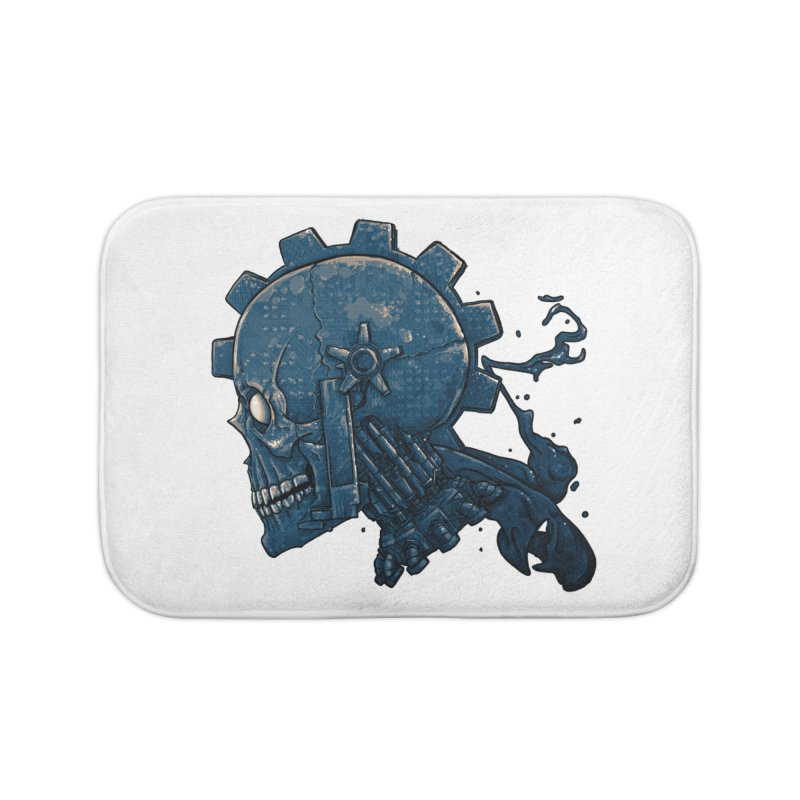 Mech Head Home Bath Mat by Tail Jar's Artist Shop