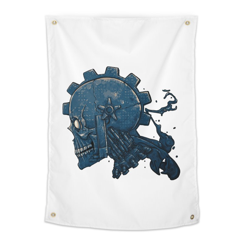 Mech Head Home Tapestry by Tail Jar's Artist Shop