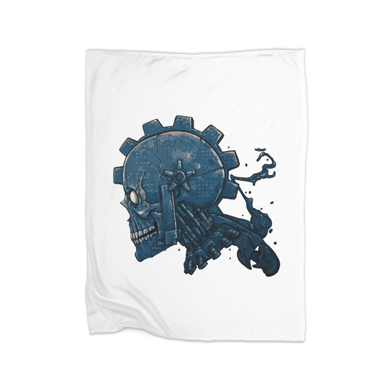 Mech Head Home Fleece Blanket Blanket by Tail Jar's Artist Shop